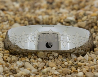 Tungsten Ring  (Free Inside Engraving) on a 10mm Dome Tungsten Carbide comfort fit lasered Custom design