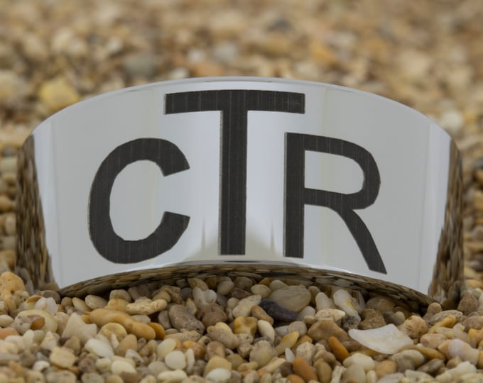 Tungsten Carbide Wedding Band (Free Inside Engraving) on a 12mm Pipe Tungsten Carbide comfort fit black lasered CTR design