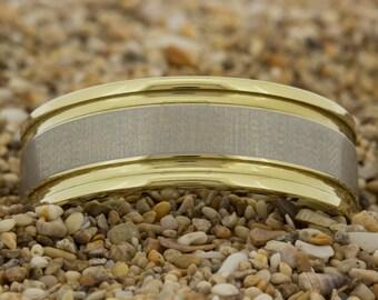 Tungsten Wedding Band, Men's Ring, Tungsten Ring, Jewelry, Ring, Black Tungsten Ring, Gold Tungsten Ring, Free Engraving, Free Shipping