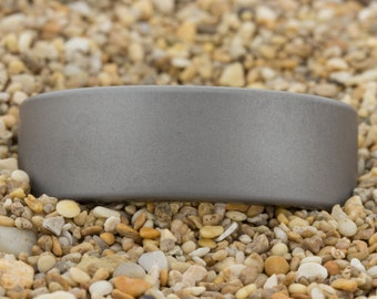 8mm Pipe Matte Finish Tungsten Carbide Band -Free Inside Engraving And Free US Shipping