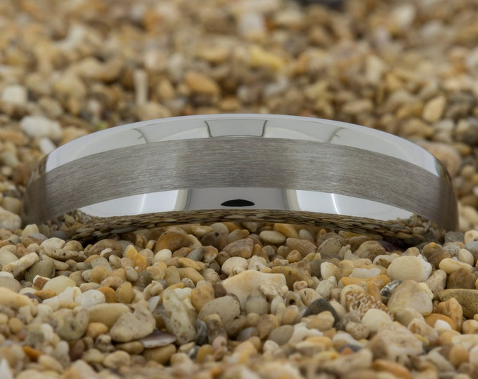 6mm Dome Satin Finish Tungsten Carbide Band-Free Inside Engraving And Free US Shipping
