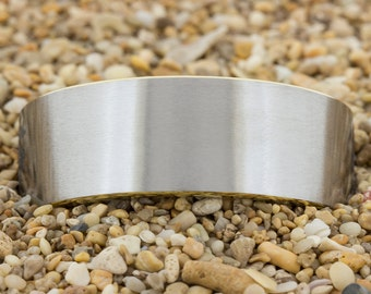9mm Gold Pipe Satin Finish Tungsten Carbide Band -Free Inside Engraving And Free US Shipping