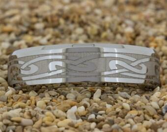 7mm Beveled-Tungsten Celtic, Tungsten Wedding Band, Black Tungsten Ring, Ring, Tungsten Carbide, Engagement Ring, Tungsten Band