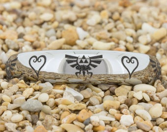 4mm Dome Tungsten Carbide Band  Kingdom Hearts & Zelda Design Ring-Free Inside Engraving And Free US Shipping