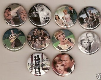 The Sound Of Music Classic Set of 10 Pins Button Badge Pinback
