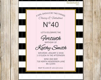 Chanel Invitations Etsy