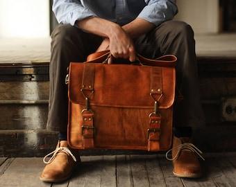 Custom Calgary Men s Leather Messenger Bag 1d9d6e598428c