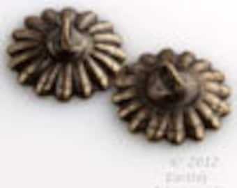 b9-2249 12 pcs Oxidized brass 10mm up-eye bead cap