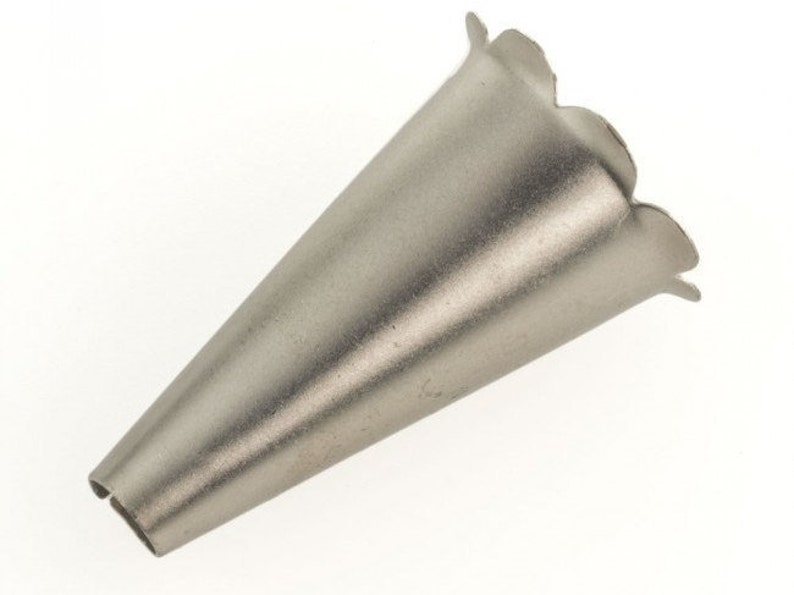 2 x 1 14 Silver metal cone with petal edges b9-2405 Sold individually