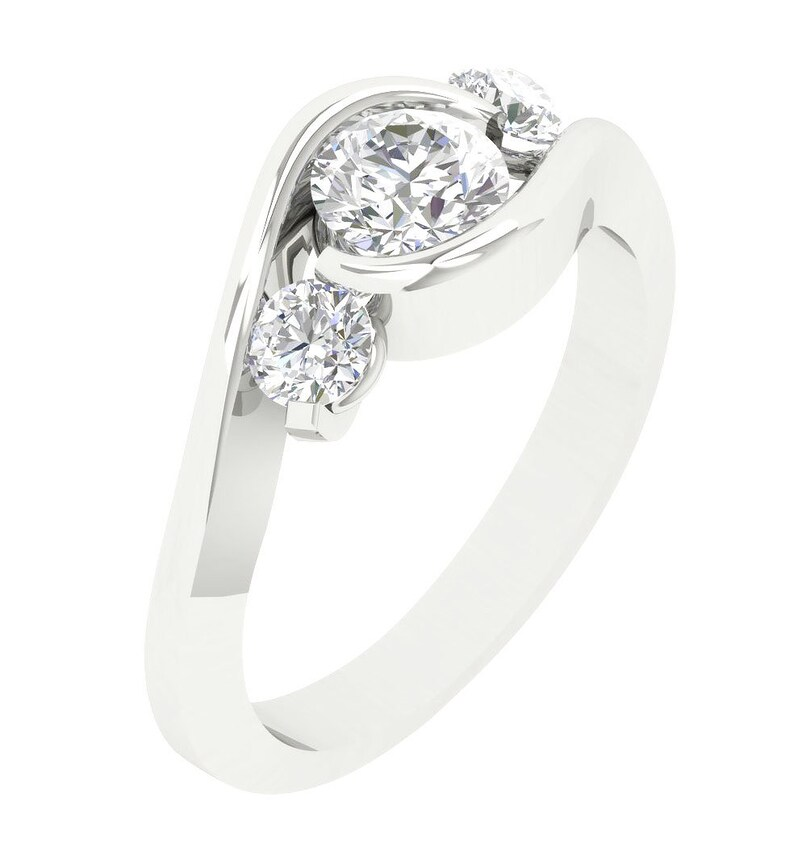 Engagement & Wedding Learned Round Diamond Solitaire Engagement Ring I1 H 1.05 Ct Prong Set 14kt Solid Gold Diamond