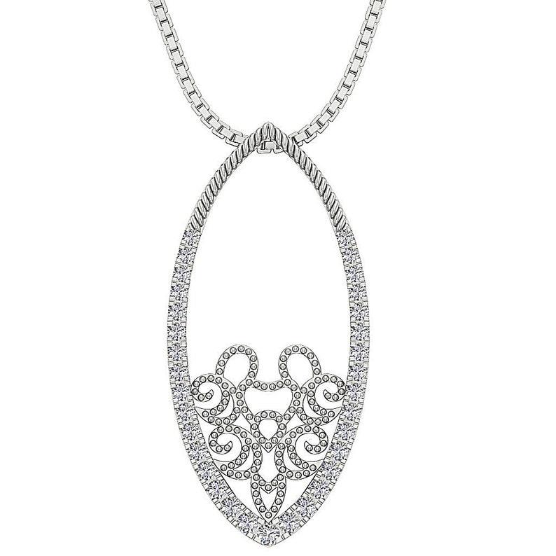 cca3da1122fa54 Fashion Pendant Necklace VVS1/VS1/SI1/I1 G 0.40 ct Round Cut | Etsy