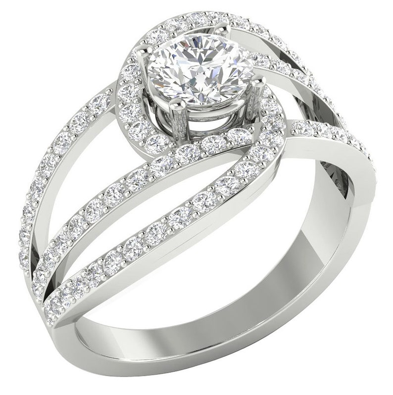 Engagement Rings Jewelry & Watches Learned Round Diamond Solitaire Engagement Ring I1 H 1.05 Ct Prong Set 14kt Solid Gold