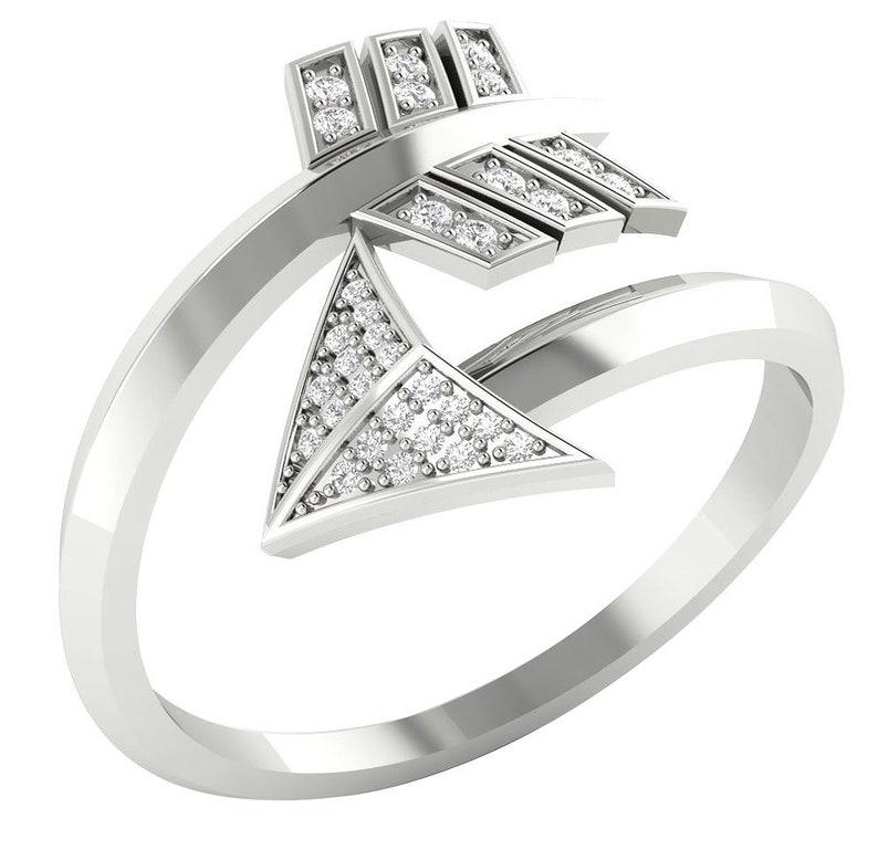 Designer Anniversary Ring I1 G 0.20 Carat Natural Diamond 14K White Yellow Rose Gold Prong Set Appraisal Certificate 16.40MM Ring Size 3-11