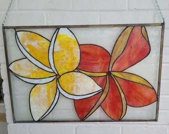 Stained Glass Plumeria