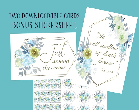 JW Greeting Card, Sympathy, Encouragment Bonus Sticker Sheet