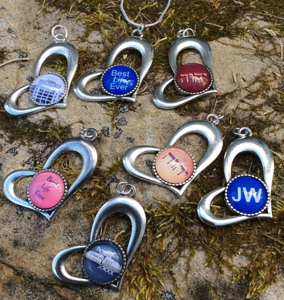 JW Heart Pendant with chain, Available in many options. Presented in a Blue Velvet Gift Bag from Blue Monkey! #9