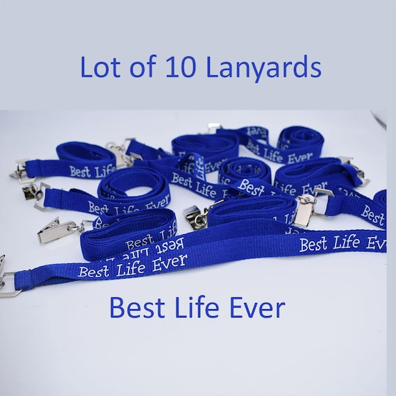 JW Fabric Lanyards with Best Life Ever, Lot of 10