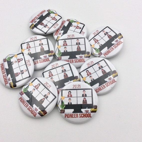 JW Pin Button Virtual Pioneer School 2021,  Lot of 1, 5, and 10.  Historic year keepsake!