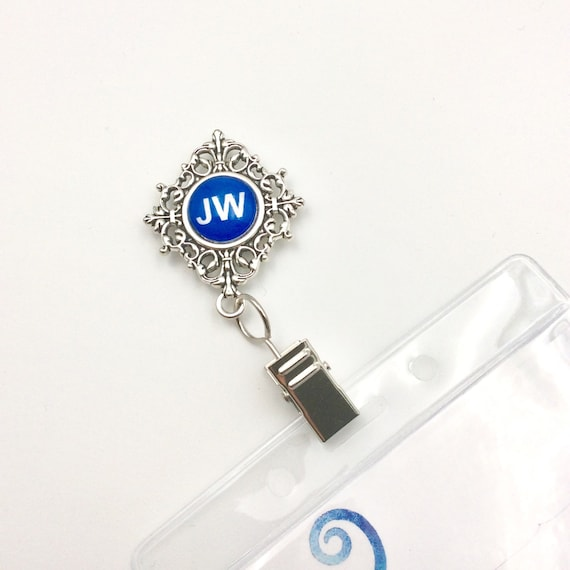JW Badge Card Holder, Pin Closure.  Optional plastic card holder