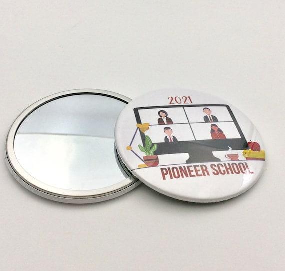 "JW.ORG Mirror Button, 3"" diameter. Virtual Pioneer School Mirror.   Listing is for 1 Mirror"