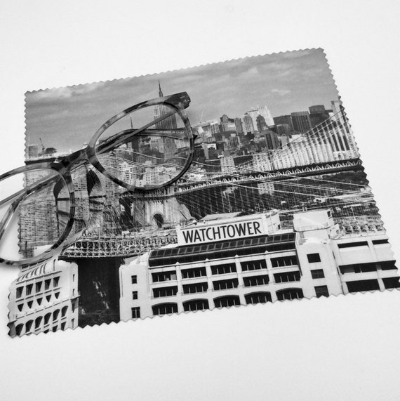 The  Historic Watchtower Skyline Microfiber Optic/Screen Cloth. Lot of 1, 5, 10, 50 or 100 available. Perfect for pioneers!