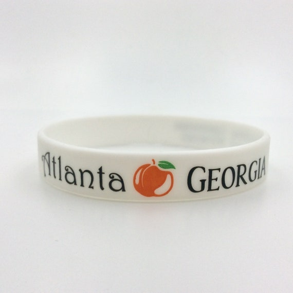 "One ""Atlanta Georgia International Convention"" Silicone Wristbands. Great gift idea! Also available in lot of 10 at a discount"