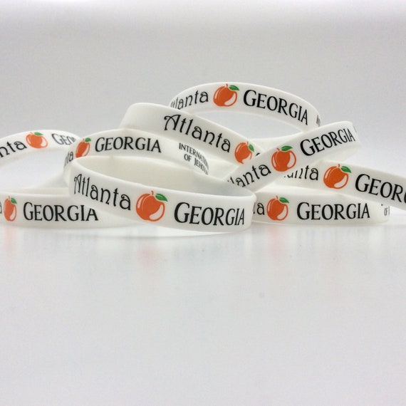 "Lot of 10 - ""Atlanta Georgia International Convention"" Silicone Wristbands. Great gift idea! Also available individually."
