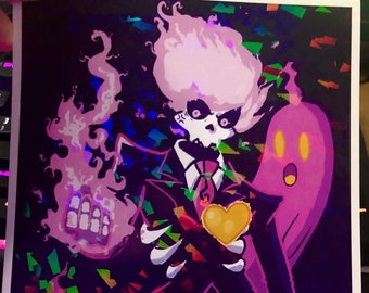 MYSTERY SKULLS | lewis pepper | holographic print | spooky | skeletons | ghost | art | decor
