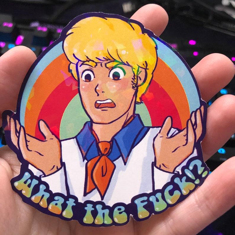 Scooby-Doo  Shaggy  Daphne  Velma  Fred Jones  Fred says F**K