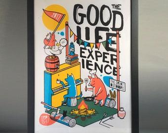 Good Life Experience 2017 - Good Life Experience poster - Festival screen print - Music festival - Nature lover gift - Kids room decor