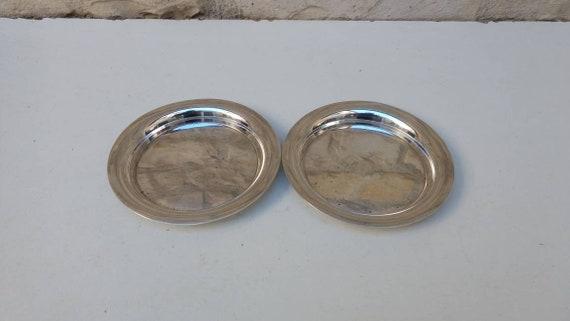 CHRISTOFLE DESSOUS DE BOUTEILLE METAL ARGENTE wine coaster silver plated