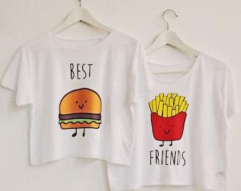 Best Friends SET of crop top t-shirts