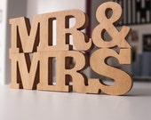 Wooden letters - MR MRS