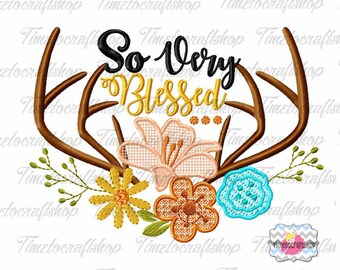 So Very Blessed Thanksgiving Embroidery Design, dst, exp, hus, jef, pes, sew, vip, vp3, Formats Digital INSTANT DOWNLOAD