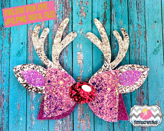 Reindeer Antler Hair Bow Template