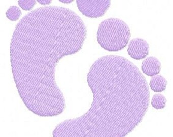 """Baby feet embroidery Design 1"""", 2"""", 3"""" and 4"""" dst, exp, hus, jef, pes, sew, vip, vp3, Formats Digital INSTANT DOWNLOAD"""