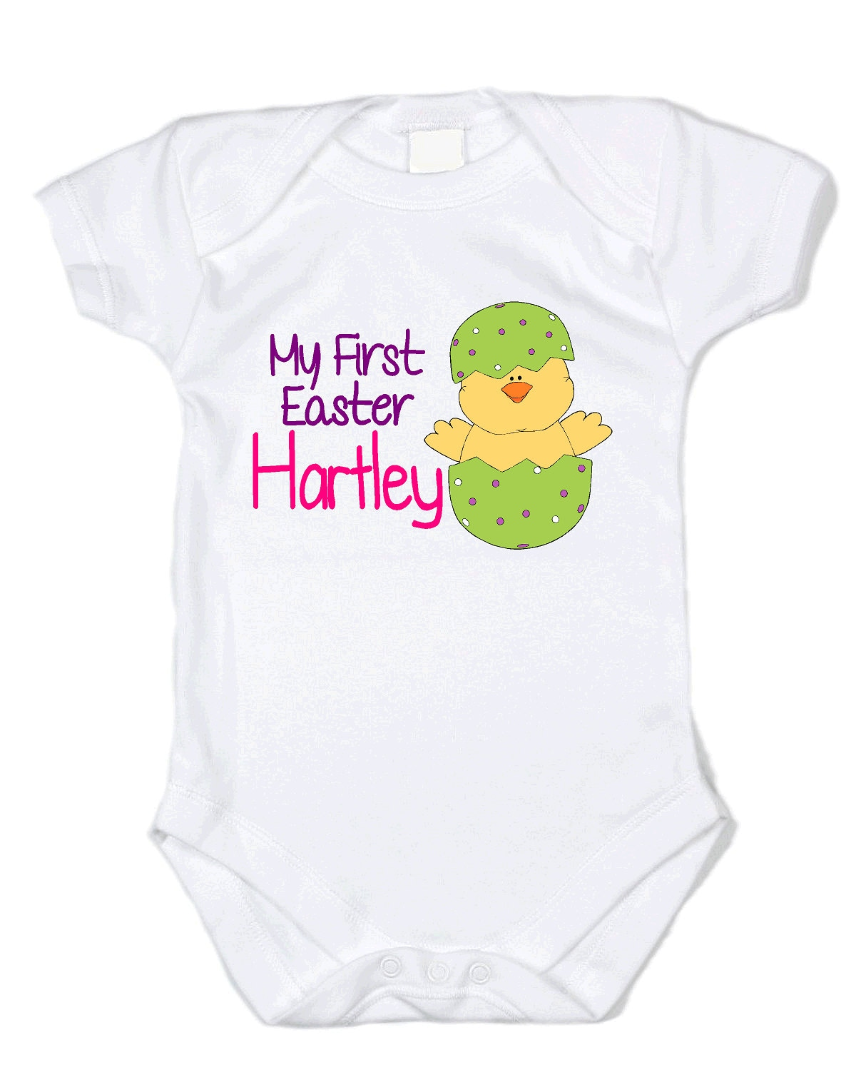 2082e08d9 Custom Baby's First Easter Onesie Basket Bunny Egg Hunt | Etsy
