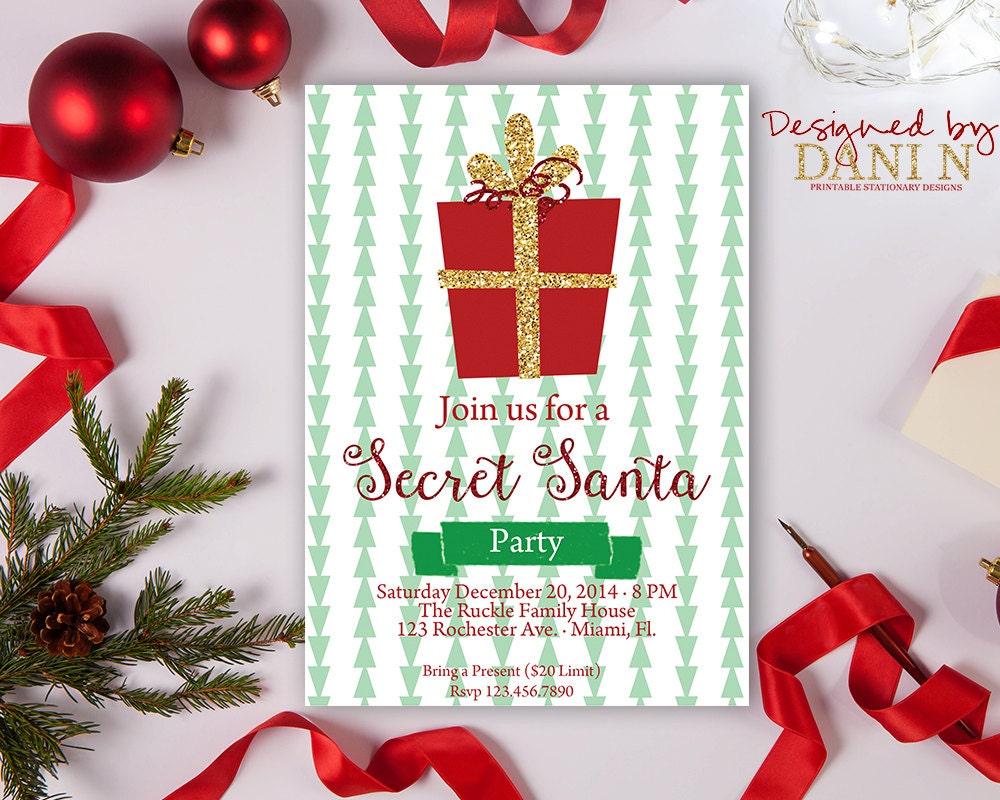 Secret Santa Party Invitation | www.topsimages.com