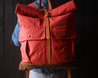 Canvas backpack bags, leather canvas bags, travel large backpacks, canvas school rucksack, MacBook, laptop bags