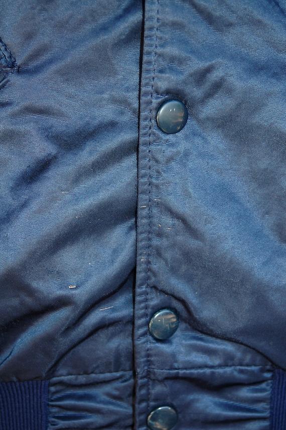 1950s Navy Blue Hatchers Manufacturing Sportswear Jacket  50s Novelty Barbarys Magic Sport Jacket