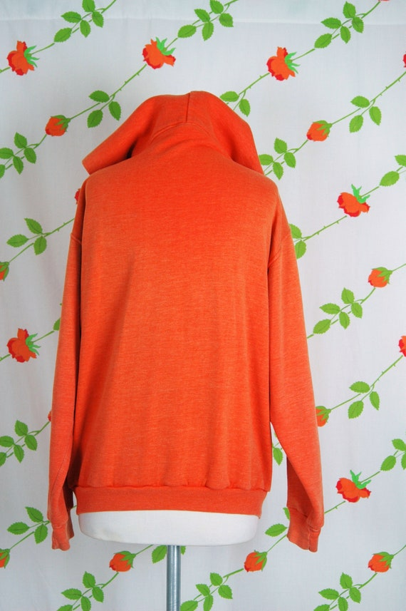 1970s Russell Athletic Orange Faded Zip Front Hoo… - image 7