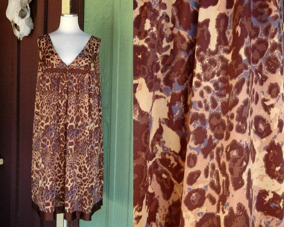 1970s 1980s Leopard Print Nightgown // 70s 80s Bro