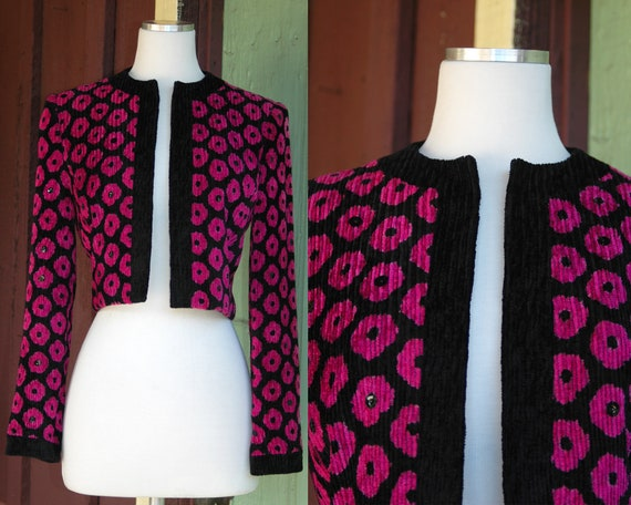 HOLIDAY 1980s Black and Pink Jill Richards Cropped