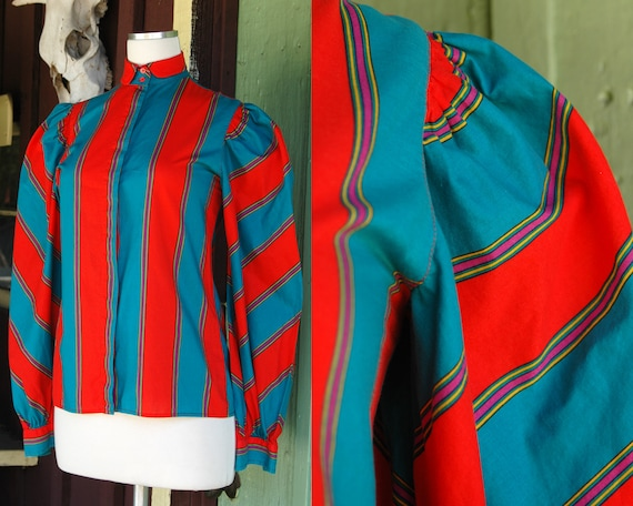 1980s 1990s Teal Green Orange Red Pink Yellow Stri