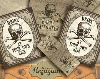 Halloween, printable Tea bag envelopes/ INSTANT DOWNLOAD/ Digital Collage Sheet/DIY
