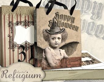 printable Halloween Bags instant download digital collage sheet