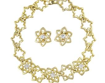 0d2c8ee03dd Pierre Balmain Star Set Necklace and Earrings