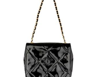 5ec098f6a326 Chanel Classic Square Patent Flap Bag