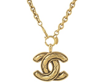 Extra Large Chanel CC Chain With Quilted CC Finish