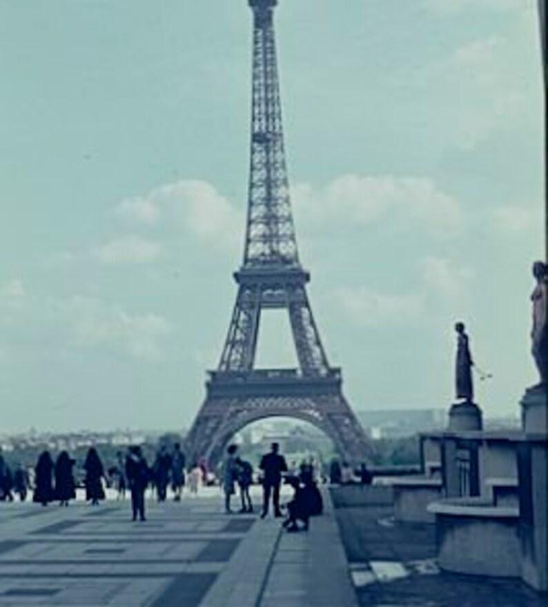 Digital Images of the Eiffel Tower Vintage Photos Eiffel Tower Amateur Photographs Set of Five 35mm Slides of Paris France